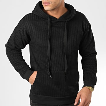 John H - Sweat Capuche 009 Noir