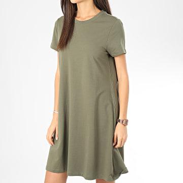 Noisy May - Robe Tee Shirt Femme Luni Vert Kaki