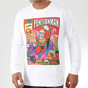 Sweat Crewneck Pensionman Blanc