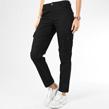 Only - Pantalon Cargo Femme Punk Noir