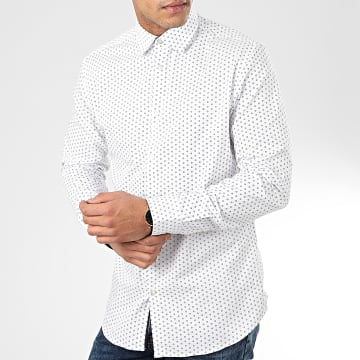 Selected - Chemise Manches Longues Slim New Mark Blanc