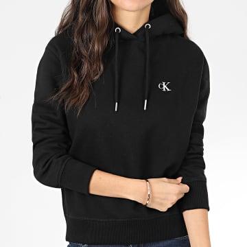 Calvin Klein - Sweat Capuche Femme CK Embroidery 3178 Noir