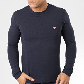 Tee Shirt Slim Manches Longues M01I34-J1300 Bleu Marine