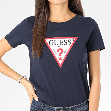 Guess - Tee Shirt Femme W01I98-JA900 Bleu Marine
