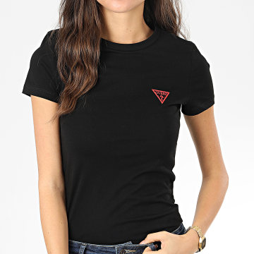 Guess - Tee Shirt Femme W01I56-K8HM0 Noir