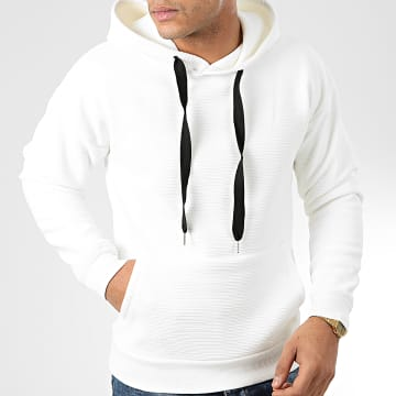John H - Sweat Capuche 006 Ecru