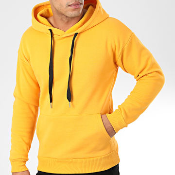 John H - Sweat Capuche WY2019001 Jaune Moutarde
