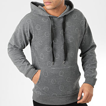 John H - Sweat Capuche WY2019011 Gris Anthracite
