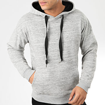 John H - Sweat Capuche 007 Gris Chiné