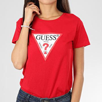 Guess - Tee Shirt Femme W01I98 JA900 Rouge