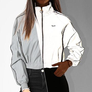 Veste Zippée Crop Femme F193015 Gris Réfléchissant