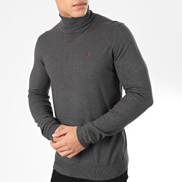 Teddy Smith - Pull Col Roulé Loki Gris Anthracite