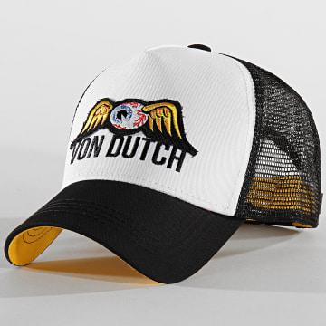 Von Dutch - Casquette Trucker Eye Patch Noir Blanc