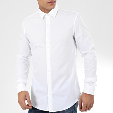 Chemise Manches Longues 2Ply Poplin 3025 Blanc