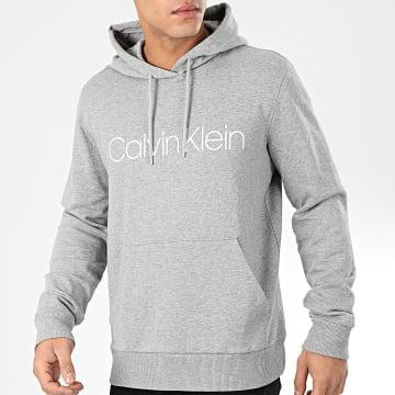 Calvin Klein - Sweat Capuche Cotton Logo 4060 Gris Chiné