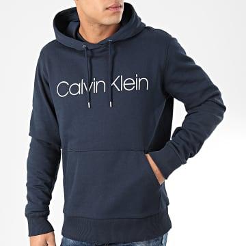 Calvin Klein - Sweat Capuche Cotton Logo 4060 Bleu Marine