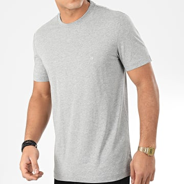 Calvin Klein - Tee Shirt Cotton Logo Embroidered 4061 Gris Chiné