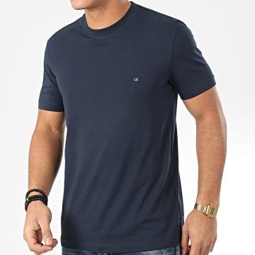 Calvin Klein - Tee Shirt Cotton Logo Embroidered 4061 Bleu Marine