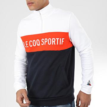 Sweat Col Zippé Saison N1 2010431 Blanc Bleu Marine Orange