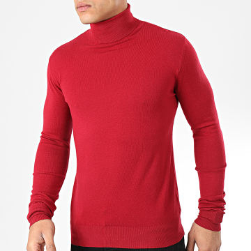 Mackten - Pull Col Roulé WS1728 Rouge