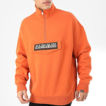 Sweat Col Zippé Bao NP000KF9A011 Orange