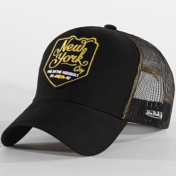 Casquette Trucker New York Noir Jaune