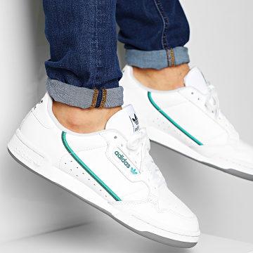 Adidas Originals - Baskets Continental 80 EF5990 Footwear White Glory Green Collegiate Navy
