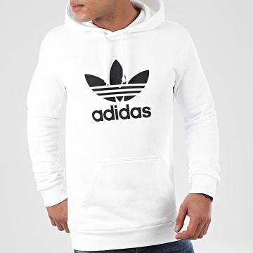 Adidas Originals - Sweat Capuche Trefoil DU7780 Blanc