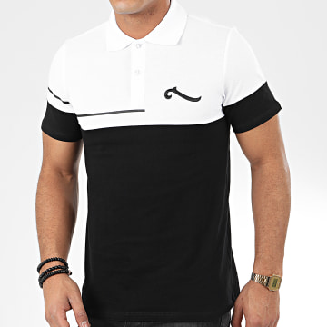 La Piraterie - Polo Manches Courtes Original Noir Blanc