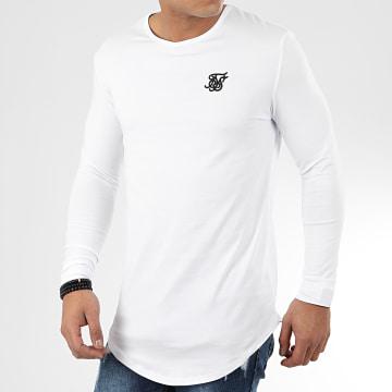 SikSilk - Tee Shirt Oversize Manches Longues 15818 Blanc