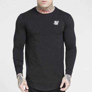 SikSilk - Tee Shirt Oversize Manches Longues Core 15822 Noir
