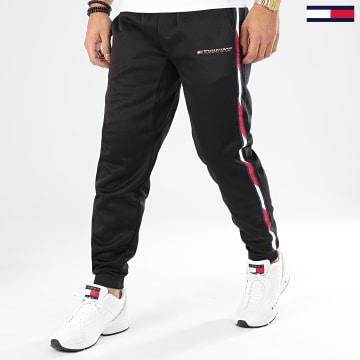 Pantalon Jogging A Bandes Tape Fleece 0324 Noir
