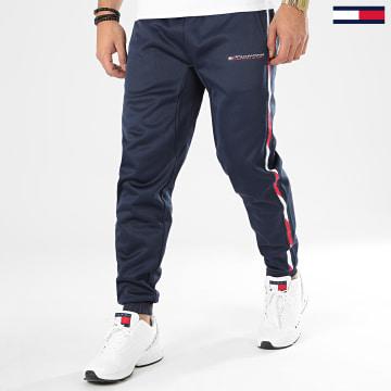 Pantalon Jogging A Bandes Tape Fleece 0324 Bleu Marine