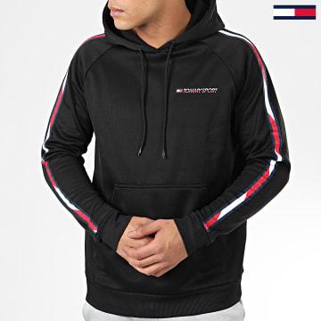 Tommy Sport - Sweat Capuche A Bandes Tape Fleece 0325 Noir