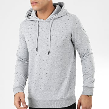 Classic Series - Sweat Capuche A Strass TS404 Gris Chiné
