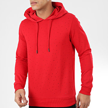 Classic Series - Sweat Capuche A Strass TS-404 Rouge