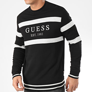 Guess - Sweat Crewneck M01Q23-K81V0 Noir Gris Chiné