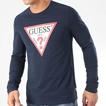 Tee Shirt Manches Longues M01I72-J1300 Bleu Marine