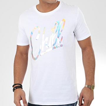 Tee Shirt Chill Iridescent Blanc