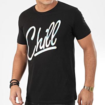 Tee Shirt Chill Iridescent Noir