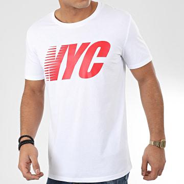 Tee Shirt NYC Blanc Rouge
