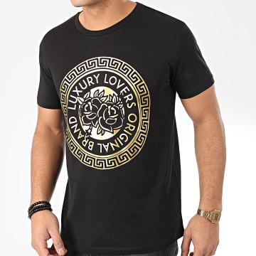 Tee Shirt Méandres Noir Or