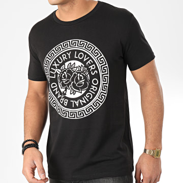 Luxury Lovers - Tee Shirt Méandres Noir Blanc