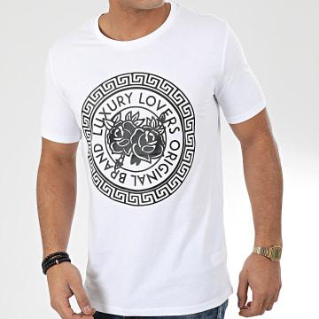 Tee Shirt Méandres Blanc Noir