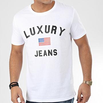 Tee Shirt Luxury Jeans Blanc