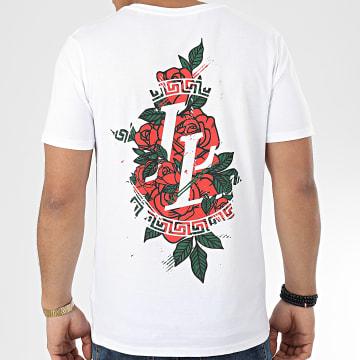 Tee Shirt Flower Grunge Blanc