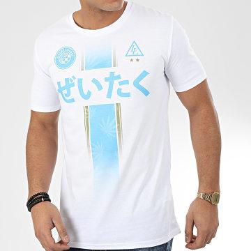 Tee Shirt Team Luxury Blanc Bleu Ciel