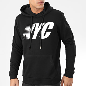 Sweat Capuche NYC Noir Blanc