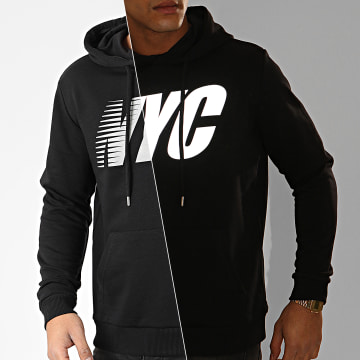 Sweat Capuche NYC Reflective Noir