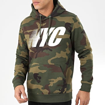 Sweat Capuche NYC Camouflage Vert Kaki